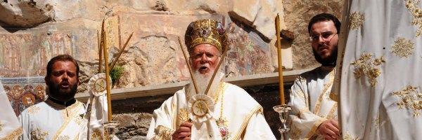 Πατριαρχική Θεία Λειτουργία στη Μονή της Παναγίας Σουμελά στην Τραπεζούντα