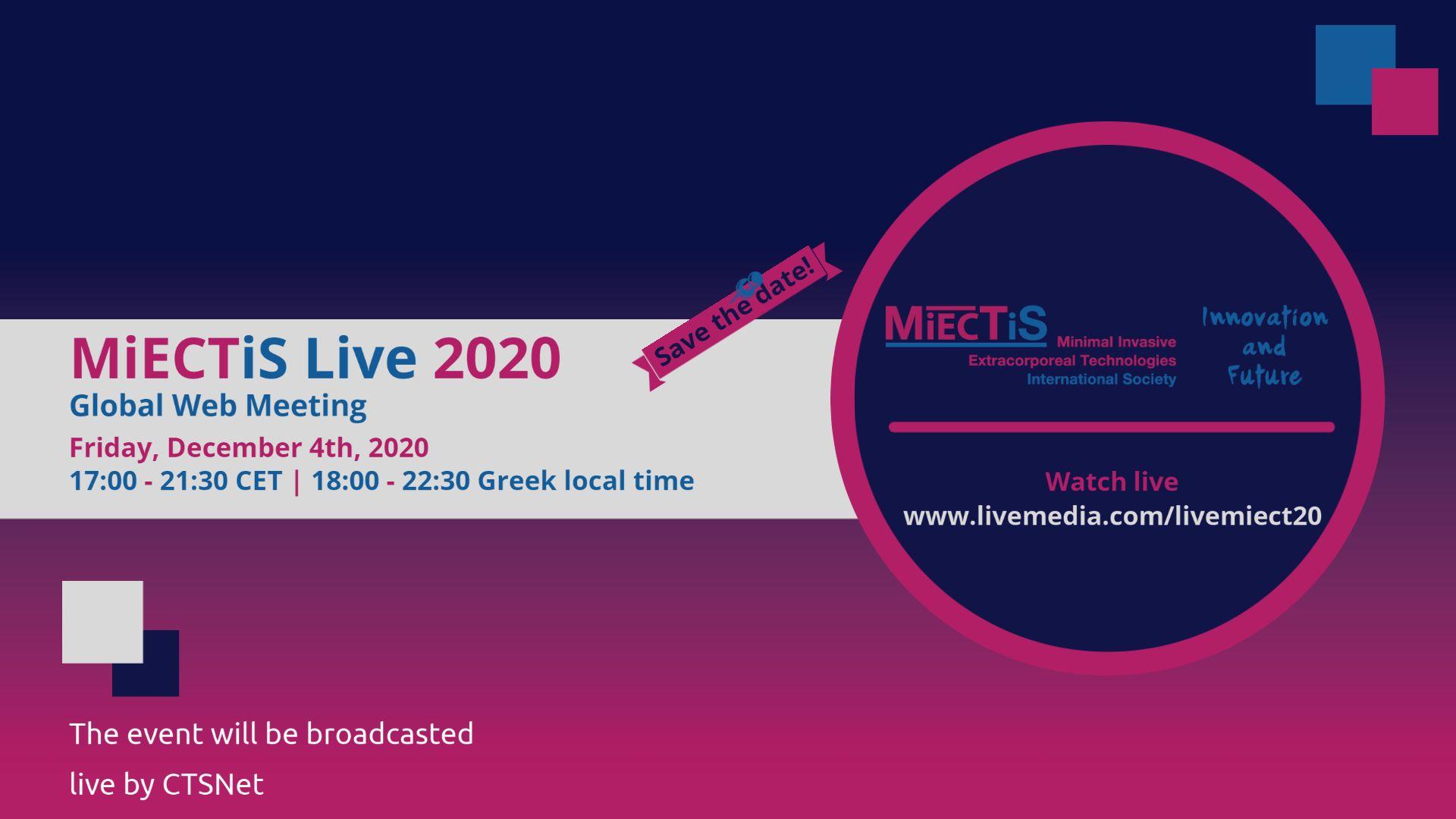 """""""MiECTiS Live 2020"""" Global Web Meeting"""