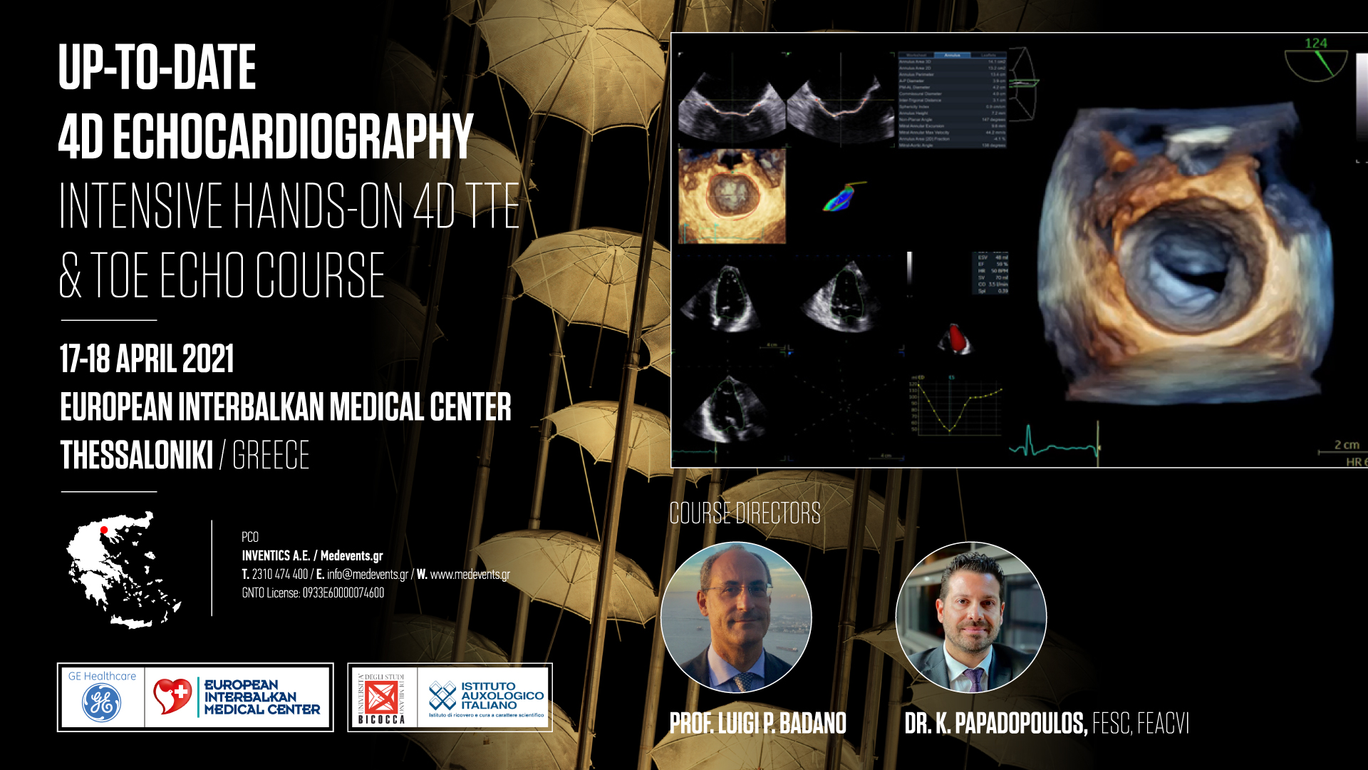 Up-To-Date 4D Echocardiography: Intensive hands-on 4D TTE and TOE Echo Course